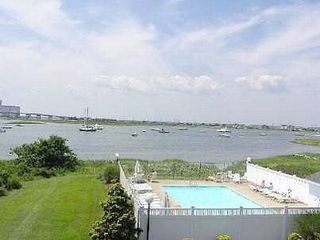 Brigantine townhome photo - Our beautiful heated, clean pool with a view!