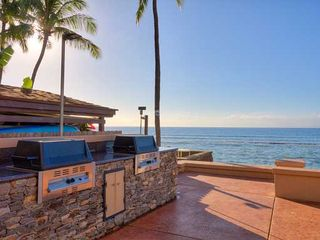 Honokowai townhome photo - Beachfront barbecues make grilling your fresh fish easy.