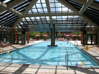Indoor Outdoor Pool at Park City, Utah Condo at Canyons Ski Resort
