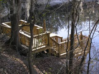 Suwannee River house photo - Tri-level dock down to Suwannee River