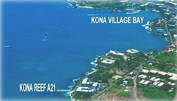 Aerial View.  Just a short 5 minute oceanfront walk to Kona Village.