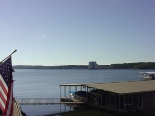 Horseshoebend condo rental - View of Main Channel from Deck. 12 Mile Marker on the Osage