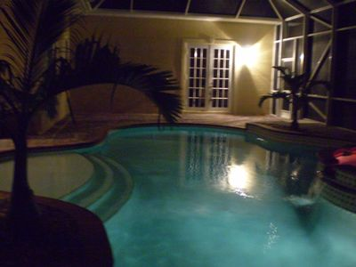 Pool/Spa Night view
