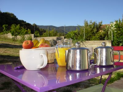 Quiet air-conditioned accommodation, 35 square meters, with garden