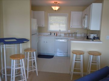View of Kitchen area - full kitchen including microwave and coffee maker