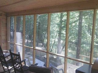 Cleveland cabin photo - Screen Porch