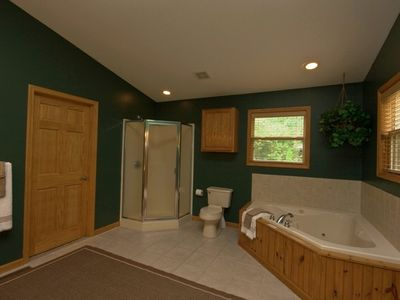 Master Bath (1 of 4), w Jacuzzi, Walk-In Closet, CD Player, Dual Sinks, Shower.