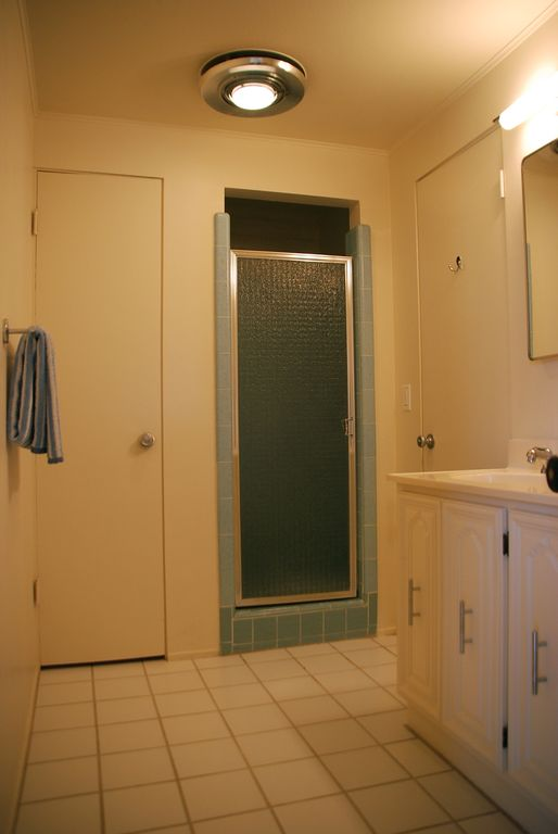 Guest Bath with tile shower.