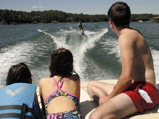 Huddleston estate photo - Wake boarding!