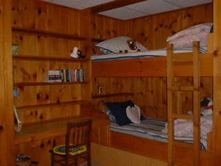 Somesville chalet photo - Lower Level Bunk Bedroom