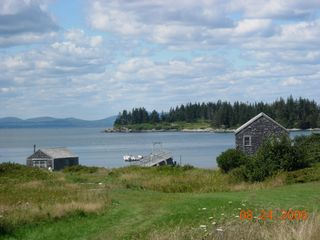 Vinalhaven farmhouse photo - View from farm house over Penobscot Bay