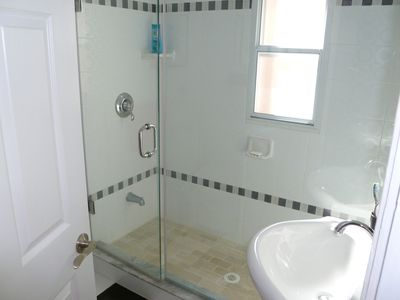 2nd floor shower room with large modern shower cubicle