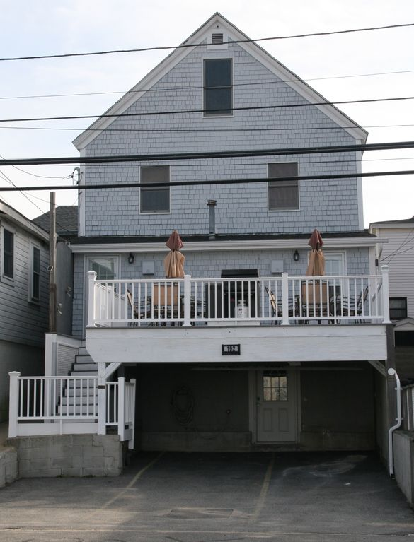 Salisbury Beach house rental - View from street side unit 2 on left - unit 1 on right