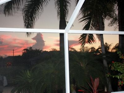 Sunset from your lanai