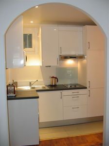Well-equipped open kitchen