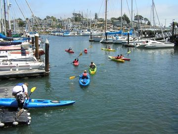 Within walking distance is the Santa Cruz Yacht Harbor.