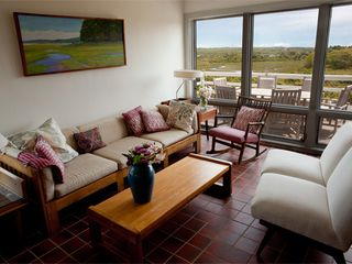 Chilmark house photo - Living room with eastern view