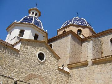 The romantic dome of Altea's church Virgen del Con