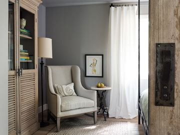 Reading corner in the west side bedroom.
