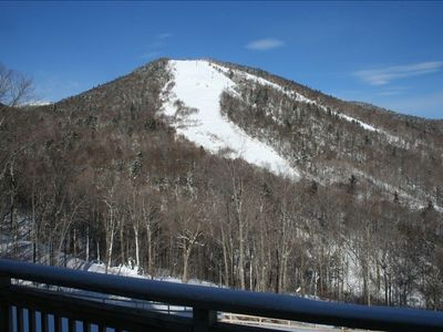 A Great view of Bear Mountain Peak right from the Deck!