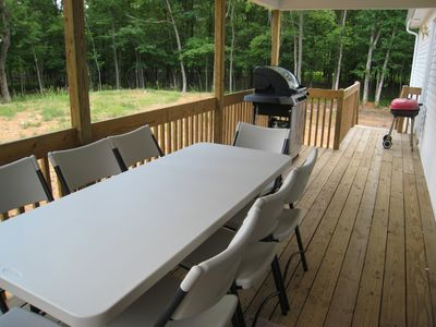 The lanai is great for barbecuing, or for relaxing