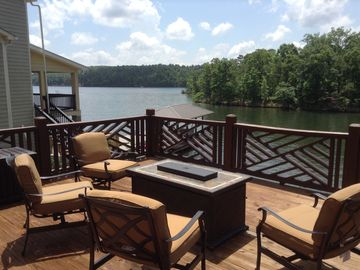 Lake Martin house rental - Great water view from deck off of main living area!