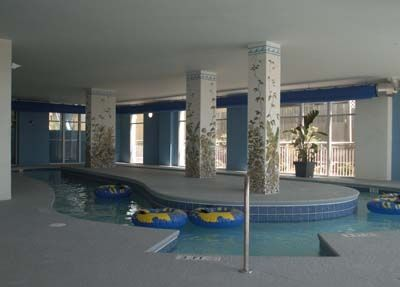 Indoor heated lazy river--watch out, it's Fast!