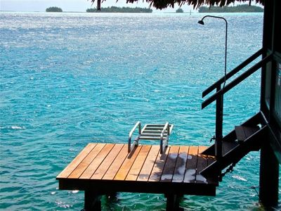 Snorkel, swim or shower from your own private dock! The water is warm.