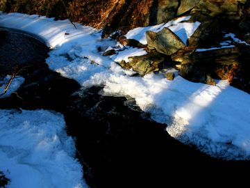 Snowy Little Bushkill Creek, just steps from front door