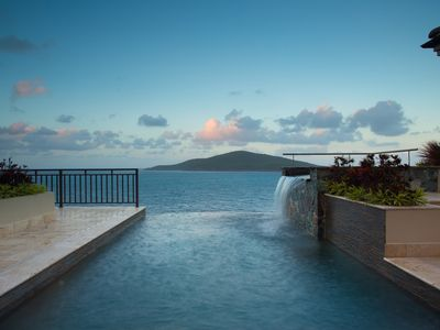 The view from the Villa is breath-taking. Enjoy it from the infinity edge pool.