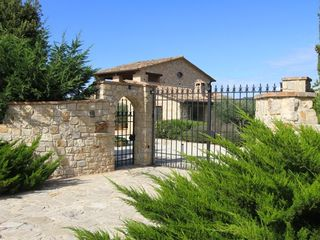 Collazzone farmhouse photo - Fully gated and fenced for security