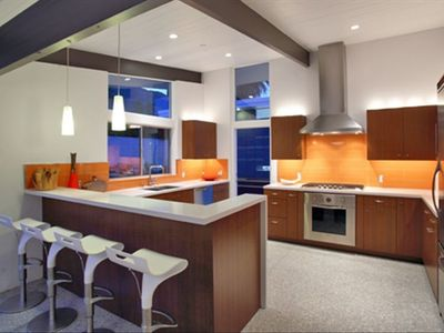Kitchen with Viking designer series appliances