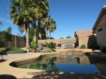 Chandler house rental - Beautiful backyard and pool with hot tub