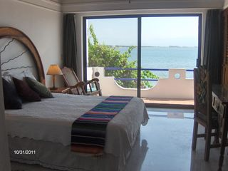 View the entire Bay of Bandera from your large master suite, guest suite also. - Bucerias townhome vacation rental photo