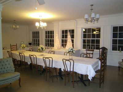 Enjoy your holiday dinner in our large dining room.