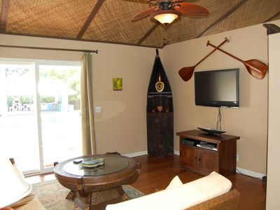 Keaau house rental - Living room of the Pineapple Suite