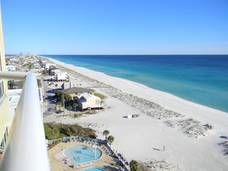 Pensacola Beach condo photo - Stunning view of the Gulf with white sandy beach looking East from our balcony