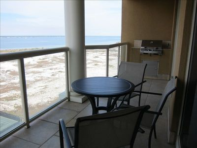 The Balcony offers relaxing views of the sound.