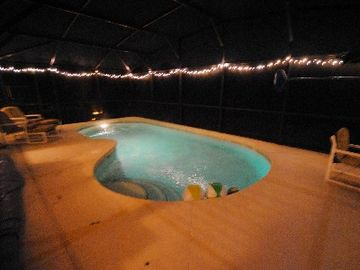 Night by the pool