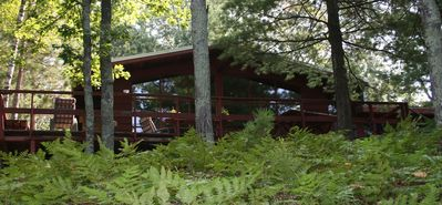 7 acre private retreat, cabin and bunk house, Rave, kayaks, paddleboat, pontoon