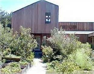 SEA RANCH RENTAL HOME.  Shot of house from front gate