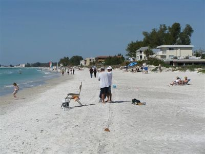 7.5 miles of sandy beach opposite Gulf Watch