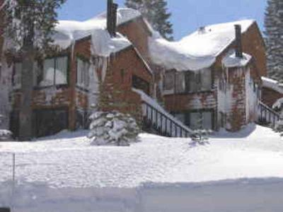 Downstairs 1 bedroom condo,  1 door from the Tahoe Donner Skihill