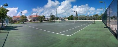 Tennis Courts by Key Colony Beach Golf Course