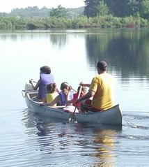 Lake Winnisquam cottage photo - Canoe fun