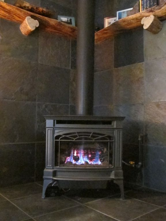 Gas fireplace. Keeps the area where you will spend most your time cozy.
