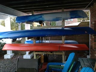 Kayaks for use in summer and fall