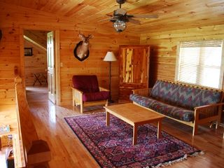 Helen cabin photo - Loft with pull out double futon and twin futon. 2 twin beds on opposite side