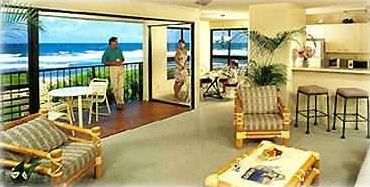 Enjoy ocean view and sound of sea from spacious living room and balcony lanai.