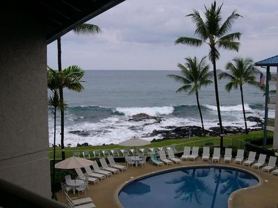 Kailua Kona condo rental - Gorgeous view from our lanai! We can spend hours working & daydreaming here.